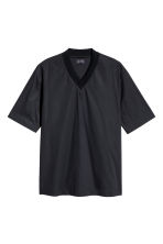 Cotton-weave T-shirt - Black - Men | H&M 2