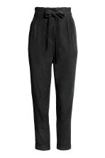 Lyocell trousers - Black -  | H&M GB 2
