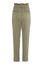 Lyocell trousers - Khaki green - Ladies | H&M 3