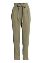 Lyocell trousers - Khaki green - Ladies | H&M CN 2