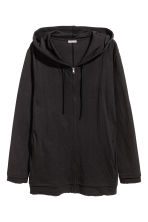 Fine-knit hooded jacket - Black - Men | H&M 2
