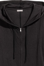 Fine-knit hooded jacket - Black - Men | H&M 3