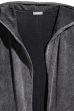 Long hooded cardigan - Black washed out - Men | H&M 3