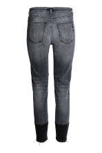Patched Ankle Jeans - 深牛仔灰 - 女士 | H&M CN 3
