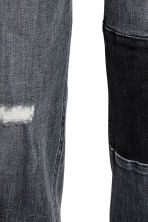 Patched Ankle Jeans - 深牛仔灰 - 女士 | H&M CN 4