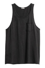 Slub jersey vest top - Black - Men | H&M 2