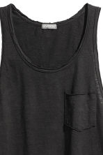 Slub jersey vest top - Black - Men | H&M 3