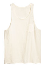 Slub jersey vest top - Natural white - Men | H&M CN 2