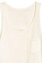 Slub jersey vest top - Natural white - Men | H&M CN 3