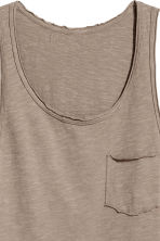 Slub jersey vest top - Mole - Men | H&M 3