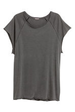 Slub jersey T-shirt - Black washed out -  | H&M CN 2