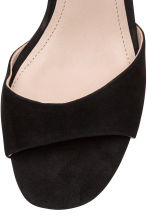 Suede sandals - Black - Ladies | H&M CN 3