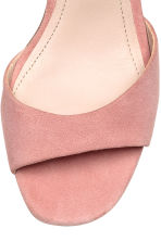 Suede sandals - Powder pink - Ladies | H&M 3