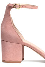Suede sandals - Powder pink - Ladies | H&M 4