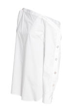 Cotton blouse - White - Ladies | H&M 3