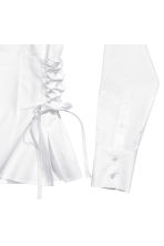 Cotton shirt with lacing - White - Ladies | H&M 3