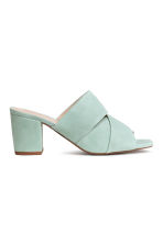 Suede mules - Mint green - Ladies | H&M CA 1