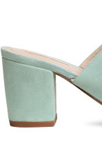 Suede mules - Mint green - Ladies | H&M CA 4