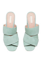 Suede mules - Mint green - Ladies | H&M CA 2