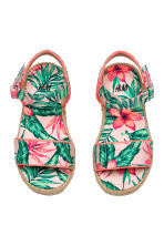Floral-print sandals - Light pink/Leaf -  | H&M 1