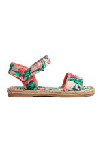 Floral-print sandals - Light pink/Leaf -  | H&M 2