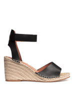 Wedge-heel sandals - Black -  | H&M 1