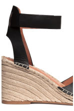 Wedge-heel sandals - Black -  | H&M 4