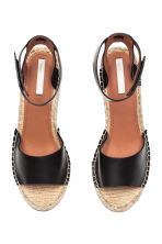 Wedge-heel sandals - Black -  | H&M 2