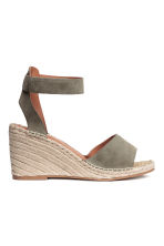 Wedge-heel sandals - Khaki green - Ladies | H&M 2