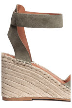 Wedge-heel sandals - Khaki green - Ladies | H&M 5