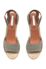 Wedge-heel sandals - Khaki green - Ladies | H&M 3