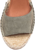 Wedge-heel sandals - Khaki green - Ladies | H&M 4