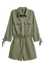 Playsuit - Khaki green - Ladies | H&M 2