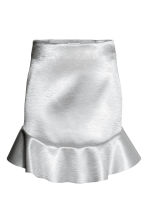 Satin skirt - Silver - Ladies | H&M CN 2