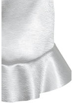 Satin skirt - Silver - Ladies | H&M 3