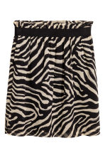 Crinkled chiffon skirt - Zebra print - Ladies | H&M 2