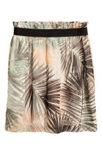 Crinkled chiffon skirt - Natural white/Leaf - Ladies | H&M CA 2