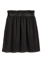 Crinkled chiffon skirt - Black - Ladies | H&M CN 2