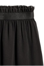 Crinkled chiffon skirt - Black - Ladies | H&M CN 3