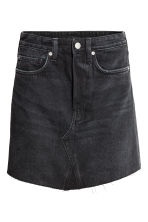 Short denim skirt - Black denim - Ladies | H&M CN 1