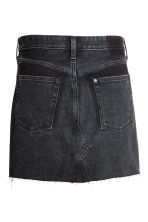 Short denim skirt - Black denim - Ladies | H&M CN 2