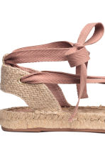 Espadrilles with lacing - Powder pink - Ladies | H&M GB 4