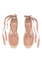 Espadrilles with lacing - Powder pink - Ladies | H&M GB 2