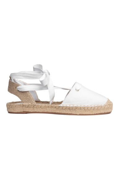 Espadrilles with lacing - White -  | H&M GB 1