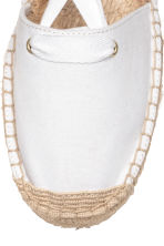 Espadrilles with lacing - White -  | H&M GB 3