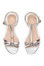 Sandals with a bow - Silver - Ladies | H&M 2