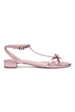 Sandals with a bow - Pink/Metallic - Ladies | H&M 1