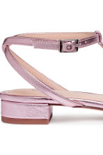 Sandals with a bow - Pink/Metallic - Ladies | H&M 4