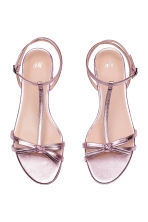 Sandals with a bow - Pink/Metallic - Ladies | H&M 2