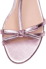 Sandals with a bow - Pink/Metallic - Ladies | H&M 3